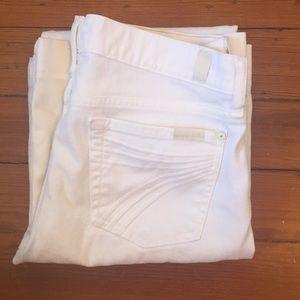 (7 for all mankind) white dojo jeans 29 x 31